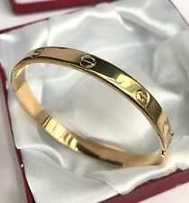 18k Solid Yellow Gold Cute Round Bangle 2.20Inches, Diamond Cut 12.99 Grams