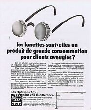PUBLICITE ADVERTISING 045 1977 ATOL lunettes