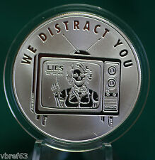 "2015 Silver Shield ""WE DISTRACT YOU"" v.2-99.9% silver PROOF #8 Pyramid of Power"