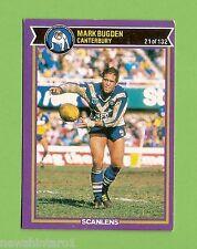 1987  CANTERBURY BULLDOGS   RUGBY LEAGUE CARD #21  MARK BUGDEN