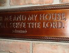Metal Signs, Home Decor, Serve the Lord, Christian Books Joshua 24:15 Gift Ideas