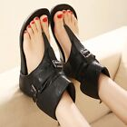 Womens Ankle Boots Flip Flops Flats Roman Buckle Gladiator Shoes Thong Sandals