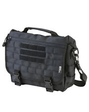 KOMBAT BLACK ARMY STYLE MOLLE COMPATIBLE 10 LITRE SMALL MESSENGER BAG MAN BAG