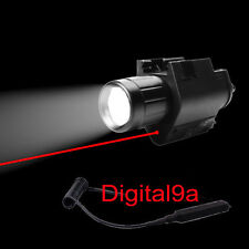 Tactical Red Laser Sight/CREE Q5 LED Flashlight Torch Combo Glock 17 19 22 20 23