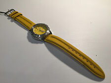 Vintage Reloj Watch Montre LOTUS MecaQuartz 38mm Steel WR 100M - Yellow