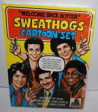 Welcome Back Kotter Sweathogs Cartoon Set Sheets,Tracing Paper,Pencils, 1977