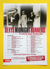 Dexys Midnight Runners UK A5 promotional tour flyer 2003...ideal for framing!