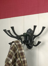 10 Hook Coat Rack Finished in Black Iron