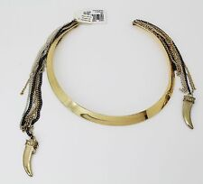 Macy's Women's Jewelry Gold Tone Half Moon Collar Multi Chain Necklace