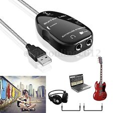 Guitar Link to USB Interface Audio Cable Recording Adapter For PC/Mac Computer