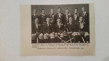 American School of Osteopathy Kirksville 1910 Baseball Team Picture SP VERY RARE