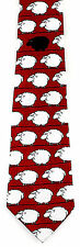 Bah Bah Black Sheep Mens Necktie Animal Neck Tie Farm Novelty Funny Red New