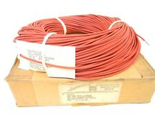 NEW SURPLUS BOX OF 500 FEET ELECTRICAL, RED, 65 STRAND, WIRE 6145001646952
