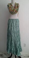 Garnet Hill 100%Silk Tiered Crochet Maxi Skirt 6 Mint Green Elastic Waist