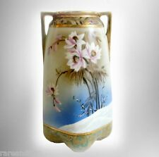 Imperial Nippon hand painted vintage vase with snow flowers - gold  - FREE SHIP