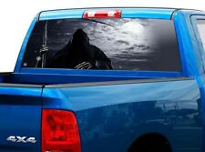 P458 Grim Reaper Rear Window Tint Graphic Decal Wrap Back Truck Tailgate