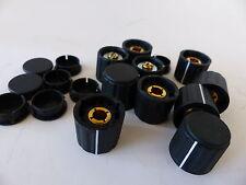 10x Spannzangen-Knopf, geriffelt für 6 mm Achse, neu,  Durchmesser 21 mm