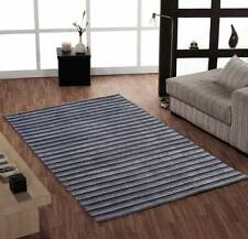 Alfonso Castille Grey & Silver Striped Rugs Modern, Pure Wool 150x240cm RRP £265