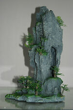 Aquarium Detailed Rocky Mountain Peak With Plants 22 x 13 x 34 cms