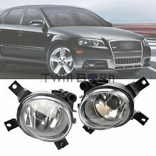 Fit Audi A3 A4 B7 Pair Front Lower Clear Glass Lens Fog Light H11 Halogen Bulb