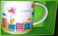 "STARBUCKS FLORIDA 2013 ""You Are Here"" Series COFFEE MUG Ceramic 14oz. NEW in Box"