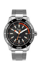 NEW BALL FIREMAN NECC BLACK & ORANGE DIAL BLACK BEZEL MEN'S WATCH DM3090A-SJ-BK