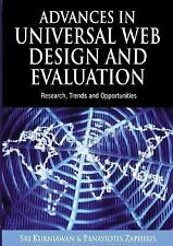 Advances in Universal Web Design And Evaluation: Research, Trends And -ExLibrary