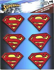 SUPERMAN s logo EMBROIDERED MINI IRON-ON PATCH SET - DC Comics **FREE SHIPPING**