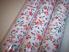 XD Red White Floral  Contact Paper Shelf Liner 4.7 ft.  1 Roll