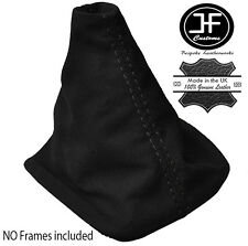 BLACK STITCHING MANUAL SUEDE SKIN GEAR GAITER FITS VW GOLF MK4 BORA 1998-2005