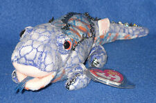 TY BALI - (BLUE) KOMODO DRAGON BEANIE BABY - MINT with MINT TAG- SHEDD EXCLUSIVE