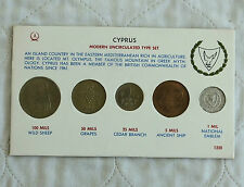 CYPRUS 1960 5 COIN MODERN UNCIRCULATED TYPE SET