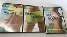 Exhale Core Fusion Collection (DVD, 2009, 3-Disc Lot) 10-Minute Workouts Thighs