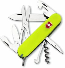 "Victorinox Climber Knife 15 Functs Fluorescent StayGlow Yellow Handle 3½"" Closed"
