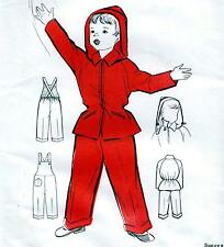 RARE Vintage 60s CHILDS DUNGAREES & JACKET Sewing Pattern FF UNUSED Chest 26""
