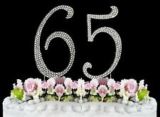 NEW Large Rhinestone  NUMBER 65 Cake Topper 65th Birthday Party Anniversary