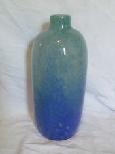 New in Box Norcrest China Glass Vase - NCG903 - Art Deco Blue & Green