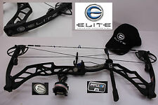 "ELITE EMPULSE 26"" to 30"" 65# Tactical Black Compound Bow Package"