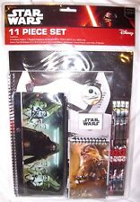Disney Star Wars 11 piece Stationary Set-Folders,Note pad,Pencils,Case-New!!