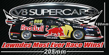 Craig Lowndes Sticker Most Ever Race Wins V8 Supercars Bathurst Holden Commodore