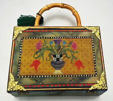 Extremely RARE MACKENZIE CHILDS Purse CIGAR BOX Hand Bag Still life Beautiful