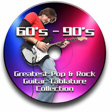 60s 70s 80s 90s 1200+ INTAVOLATURA ROCK POP CHITARRA CANTO LIBRO CD SOFTWARE