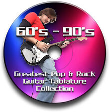 60s 70s 80s 90s 1200+ TABLATURE ROCK POP GUITARE LIVRE MUSICAL CD LOGICIEL