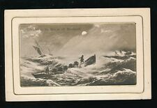 Lancs Lancashire BLACKPOOL Lifeboat to the Rescue artist impression 1909 PPC