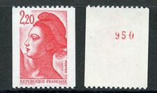 TIMBRE DE FRANCE NEUF N° 2379a ** NUMERO ROUGE ROULETTE LIBERTE petit chiffre