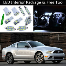7PCS Bulbs White LED Interior Lights Package kit Fit 2010-2013 Ford Mustang J1