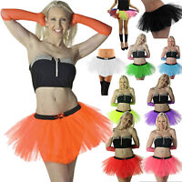 NEW WOMENS 3 LAYERS NEON 1980'S SEXY TUTU FANCY DRESS PARTY'S TUTU SKIRTS