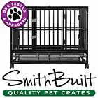 "42"" Dog Crate Kennel - Heavy Duty Black Pet Cage Playpen w/ Metal Tray Pan"