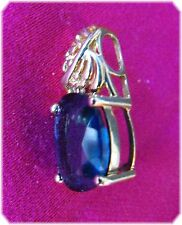 Beautiful 10K Gold Mystic Topaz Pendant- LARGE