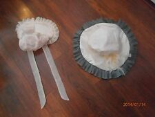 2 Old Fashioned Spring Hats Feathers  & Flowers 4 Child  Great for Dress Up